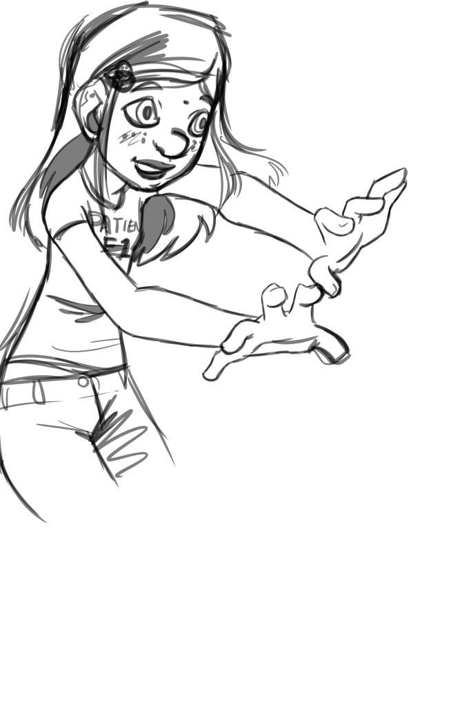 Zoe reborn 9-1 young zoe sketch